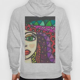 Color Zentangle Girl Hoody