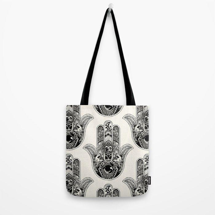Hamsa Hand Pug Tote Bag