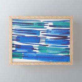 5  |  190408 Blue Abstract Watercolour Framed Mini Art Print