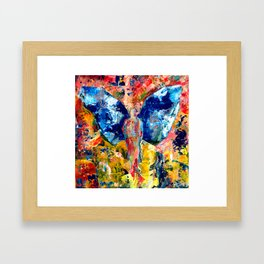 Butterfly 1, Acrylic On Canvas, Chase Medved Framed Art Print
