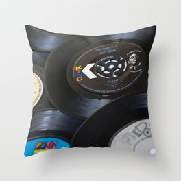 Sounds of the 70s III Throw Pillow