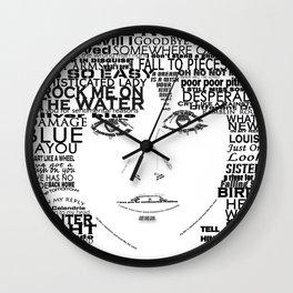 "Linda Ronstadt ""Song Titles"" Word Art Wall Clock"