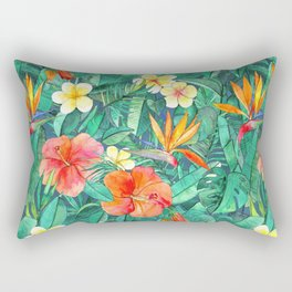 Classic Tropical Garden Rectangular Pillow