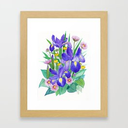 Iris Ikebana Framed Art Print