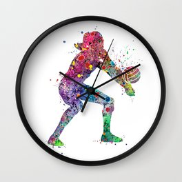 Volleyball Girl Watercolor Print Girls Room Decor Volleyball Poster Girl Volleyball Wall Art Wall Clock