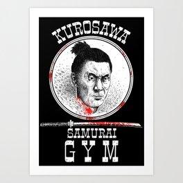 Kurosawa Samurai Gym Art Print