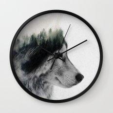 Wolf Stare Wall Clock