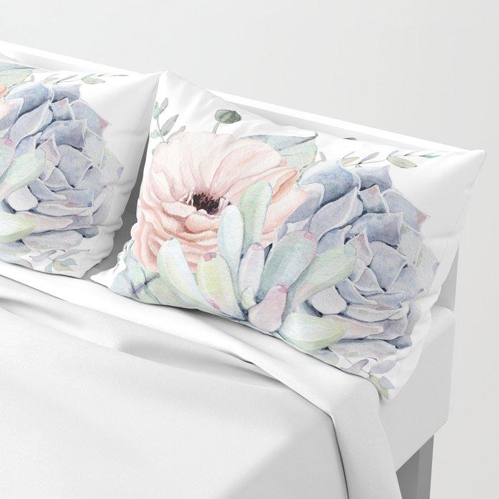 Pretty Succulents by Nature Magick Pillow Sham