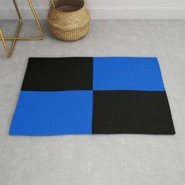 Big mosaic blue black Rug
