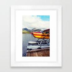 Docked Seaplane Framed Art Print