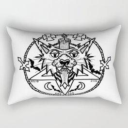 WHITE CANDLE CAT Rectangular Pillow