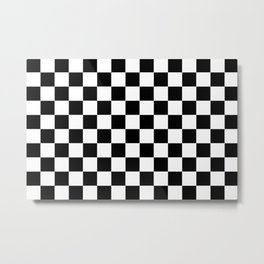 chess board, chessboard  black and white pattern Metal Print