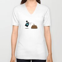 3d V-neck T-shirts featuring 3D by Viktor Hertz