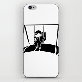 In Space No One Will Push Your Swing iPhone Skin