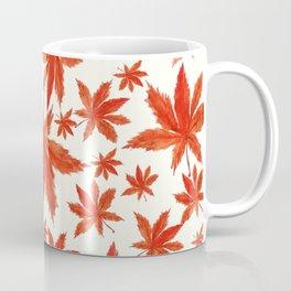 red maple leaves pattern Coffee Mug