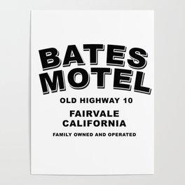 Psycho inspired Bates Motel logo Poster