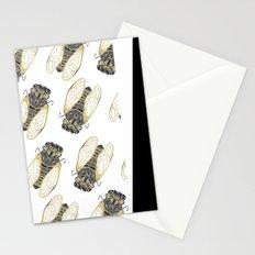 Cicada – Black & Gold Stationery Cards