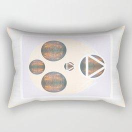 Monkey Head: Circle & Triangle Rectangular Pillow