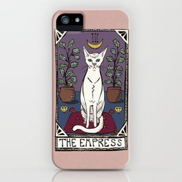 The Empress Tarot Cat iPhone Case
