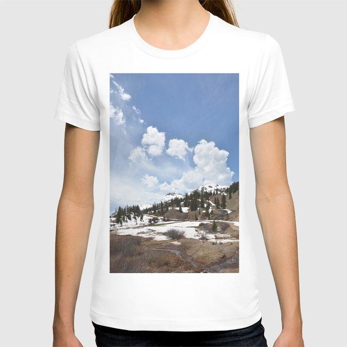 Dancing Clouds Over Sheridan Summit and Black Bear Pass Road T-shirt