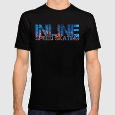 Inline Speed Skating MEDIUM Black Mens Fitted Tee