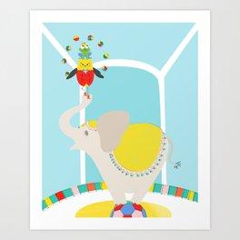 Juggler - Circus series Art Print