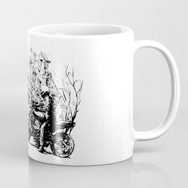 Art, biker in old town Coffee Mug
