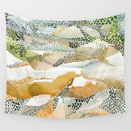 Reflection dream; earthen Wall Tapestry