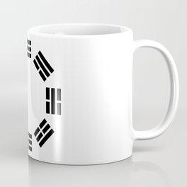 Black Hexagon I ching Feng Philosophy Coffee Mug
