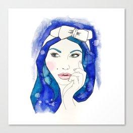 Blue Hair Don't Care Canvas Print
