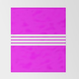 4 Stripes on Pink Throw Blanket