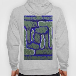 vintage psychedelic painting texture abstract background in dark blue and grey Hoody