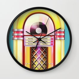 Vintage Jukebox Wall Clock