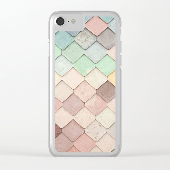 Cute Rainbow Scales Clear iPhone Case