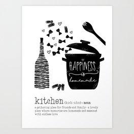 Kitchen-Love (Definition) Cooking Illustration Art Print