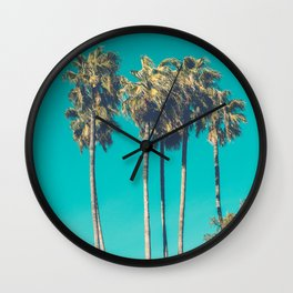 A Few Turquoise Palms Wall Clock