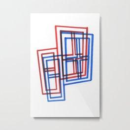 2D 3D Windows Metal Print