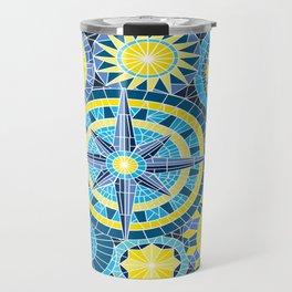 Mosaic Pinwheels Travel Mug
