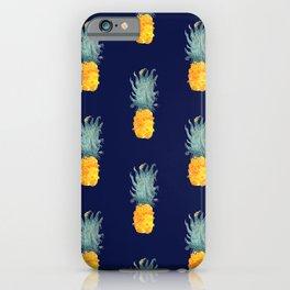 Pineapple Pattern Blue iPhone Case