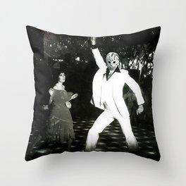 JASON VORHEES AS JOHN TRAVOLTA Throw Pillow