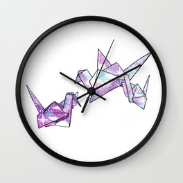 Origami Cranes Wall Clock