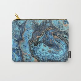 Lapis Lazuli 1 - Acrylic Flow Abstract Carry-All Pouch