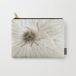 Minimal Sepia Primrose Close-up Carry-All Pouch