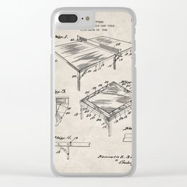 Table Tennis Patent - Tennis Art - Antique Clear iPhone Case