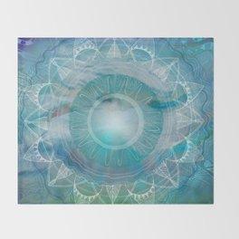 Vishuddha: Throat Chakra Throw Blanket