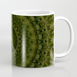 Mandala in olive green tones Coffee Mug