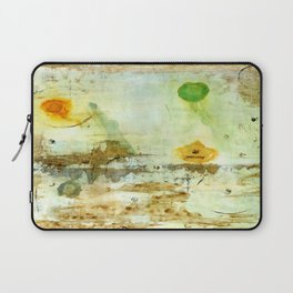 Drifting, Abstract Landscape Art Painting Laptop Sleeve
