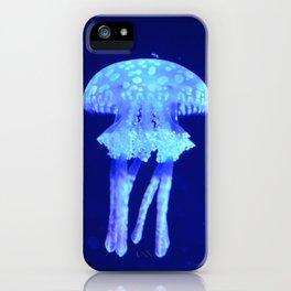 Blue jellyfish iPhone Case
