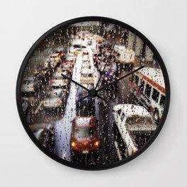 Rainy Rush Hour Wall Clock