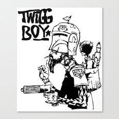 twigg boy (dark colors) Canvas Print